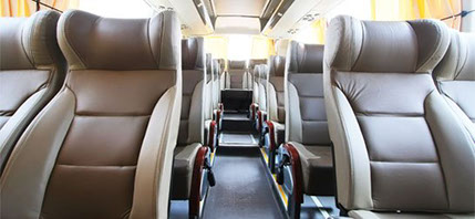 luxury bus seating